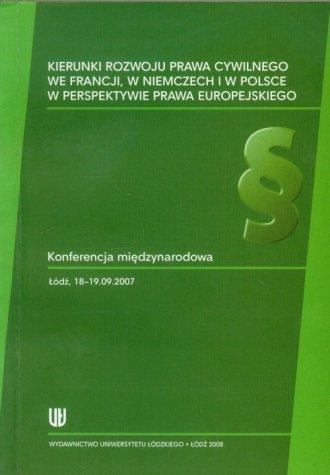 Kierunki rozwoju prawa cywilnego - okładka książki