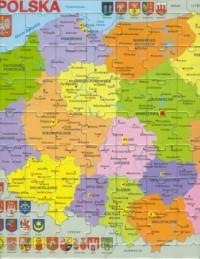 Polska mapa (puzzle) - zdjęcie zabawki, gry