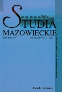 Studia mazowieckie nr 3-4/2011 - okładka książki