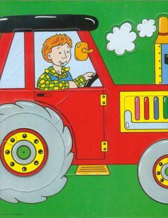 Traktor (puzzle) - zdjęcie zabawki, gry