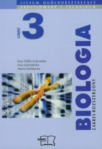 Biologia cz. 3. Liceum ogólnokształcące, liceum profilowane i technikum. Podręcznik. Zakres rozszerzony - okładka podręcznika