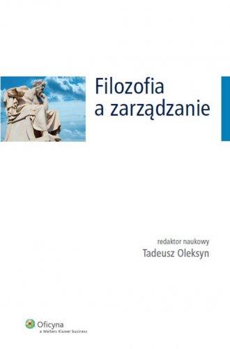 Filozofia a zarządzanie - okładka książki