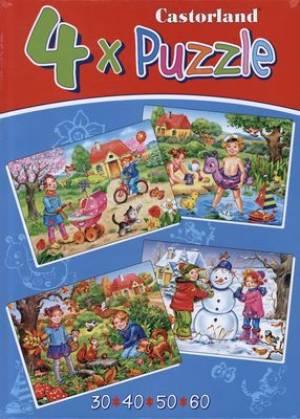 Four seasons (4x puzzle, wiek 3+) - zdjęcie zabawki, gry