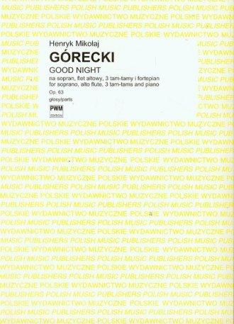 Good night op. 63 - okładka książki
