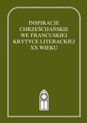 Inspiracje chrześcijańskie we francuskiej - okładka książki