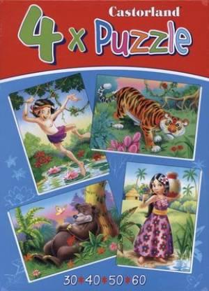 Jungle book (4x puzzle, wiek 3+) - zdjęcie zabawki, gry