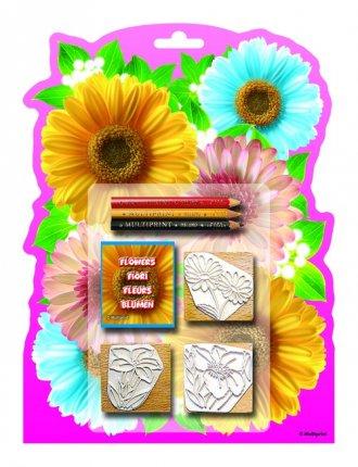 Kwiaty (pieczątki) - zdjęcie zabawki, gry