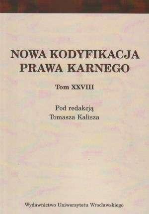 Nowa kodyfikacja prawa karnego. - okładka książki