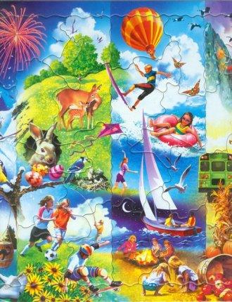 Pory roku (puzzle) - zdjęcie zabawki, gry