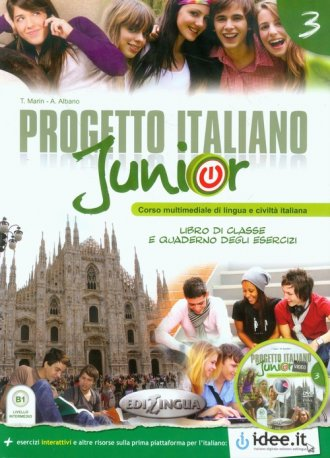 Progetto italiano junior 3. Podręcznik - okładka podręcznika