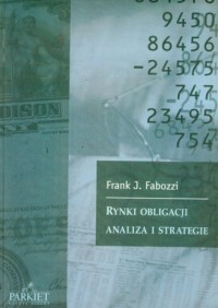 Rynki obligacji analiza i strategie - okładka książki