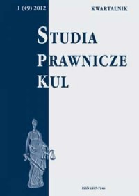 Studia prawnicze KUL, 1(49)/2012 - okładka książki
