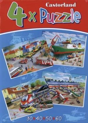 Transpot and travel (4x puzzle, - zdjęcie zabawki, gry