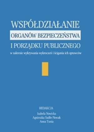Współdziałanie organów bezpieczeństwa - okładka książki