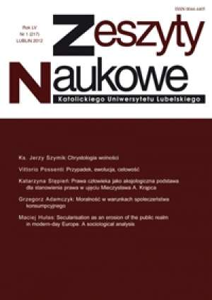 Zeszyty Naukowe KUL 1/2012 - okładka książki