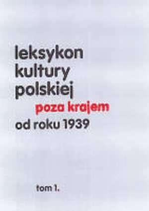 Leksykon kultury polskiej poza - okładka książki