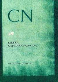 Liryka Cypriana Norwida - okładka książki
