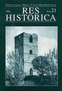 Res Historica. Tom 21/2006 - okładka książki