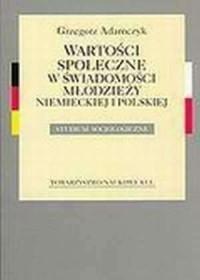 Wartości społeczne w świadomości - okładka książki