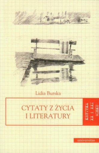 Cytaty z życia i literatury - okładka książki