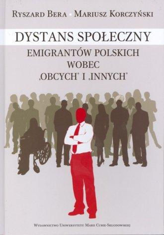 Dystans społeczny emigrantów polskich - okładka książki