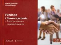 Fundacje i Stowarzyszenia funkcjonowanie i opodatkowanie - okładka książki
