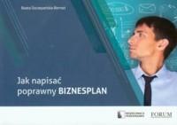 Jak napisać poprawny biznesplan - okładka książki