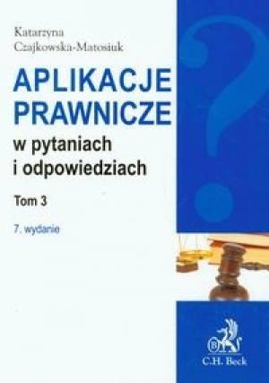 Aplikacje prawnicze w pytaniach - okładka książki