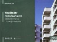Wspólnoty mieszkaniowe, opodatkowania i funkcjonowania 2013 - okładka książki