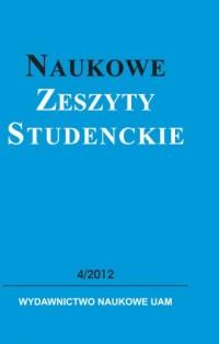 Naukowe Zeszyty Studenckie 4/2012 - okładka książki