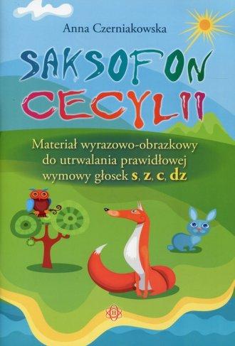 Saksofon Cecylii. Materiał wyrazowo-obrazkowy - okładka książki