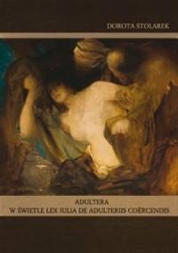 Adultera w świetle lex Iulia de - okładka książki