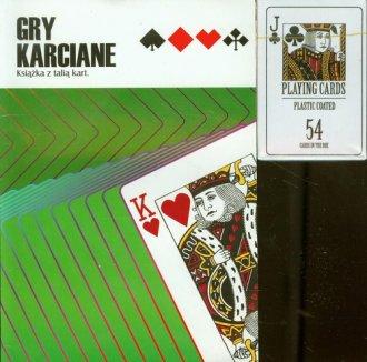 Gry karciane. Książka + karty (zielona) - okładka książki