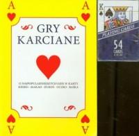 Gry karciane. Książka   karty (żółta) - okładka książki