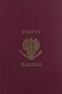 Historia Statutu Kaliskiego księcia - okładka książki