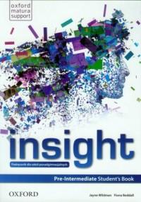 Insight. Pre-Intermediate Students Book. Podręcznik dla szkół ponadgimnazjalnych - okładka podręcznika