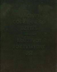 Macewy codziennego użytku - okładka książki