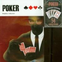 Poker. Książka z talią kart (brązowa) - okładka książki