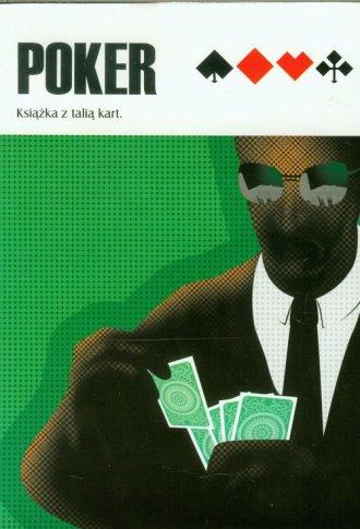 Poker. Książka z talią kart (zielona) - okładka książki