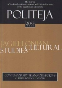 Politeja nr 20/3/2012. Contemporary Transformations. Culture, Politics, Economy - okładka książki