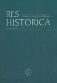 Res Historica. Tom 33 (2012) - okładka książki