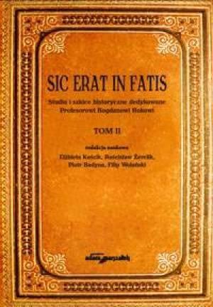 Sic erat in fatis. Studia i szkice - okładka książki