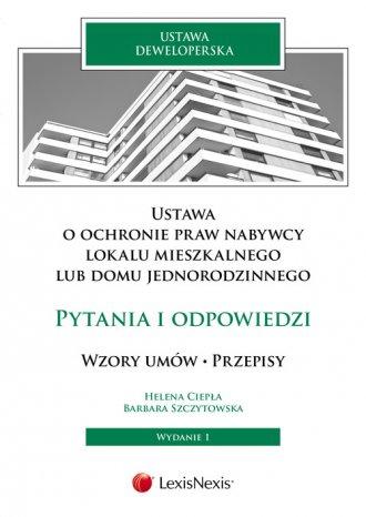 Ustawa o ochronie praw nabywcy - okładka książki