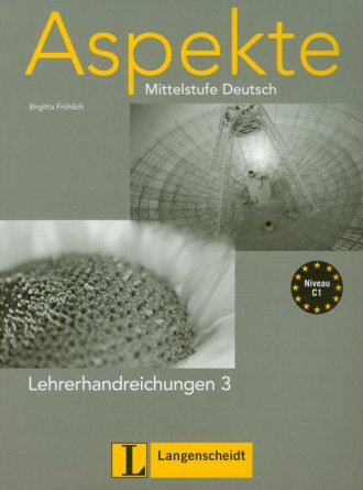ok�adka podr�cznika - Aspekte 3 Lehrerhandreichungen. Mittelstufe Deutsch - Birgitta Frohlich
