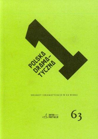 Polska dramatyczna 1. Dramat i - okładka książki