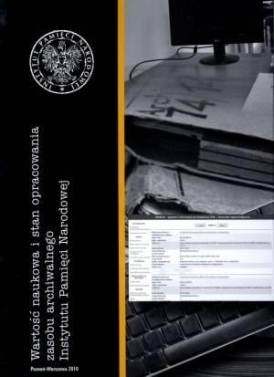 Wartość naukowa i stan opracowania - okładka książki