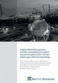Analiza infrastruktury gazowej w Polsce z perspektywy przyszłych wyzwań energetycznych i rozwoju sektora gazu niekonwencjonalnego - okładka książki