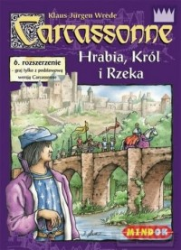 Carcassonne. Hrabia, Król i Rzeka. 6 rozszerzenie - zdjęcie zabawki, gry