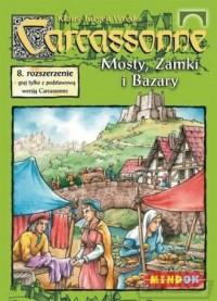 Carcassonne. Mosty, Zamki i Bazary. 8 rozszerzenie - zdjęcie zabawki, gry