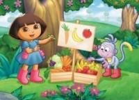 Dora owoce i warzywa (puzzle maxi) - zdjęcie zabawki, gry